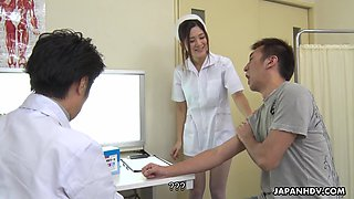 Slender Anna Kimijima is Japanese nurse who knows how to suck dick