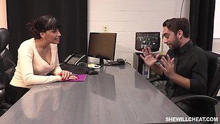 Busty boss, Mercedes Carrera likes to have casual sex with her employers, in her office