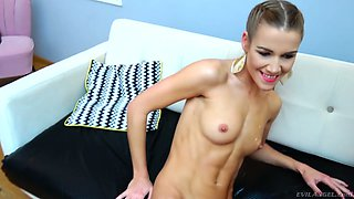 Czech svelte auburn hottie Alexis Crystal drops a visit to ex for analfuck