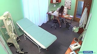 Bored nurse Mea Melone decides to have some sexy time with a doctor