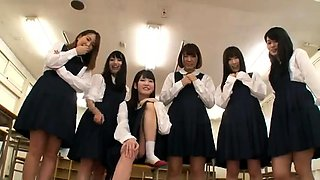 Naughty Asian schoolgirls in uniform are aching for pleasure