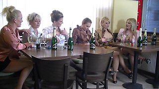 Fabulous pornstars Amadea Emily, Gabrielle Gucci and Kirsten Plant in horny blowjob, blonde adult clip