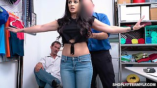 Husband and wife are caught shoplifting and punished