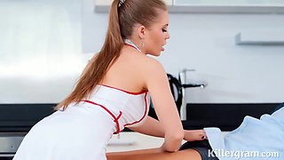 Alessandra Jane is a naughty nurse who is always using an opportunity to get fucked