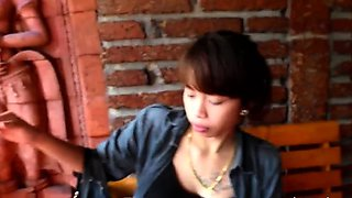 Glorious japanese cutie Mai gets head and cuch banged