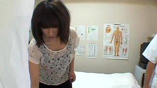 Curvy Japanese enjoys in a hidden cam massage action