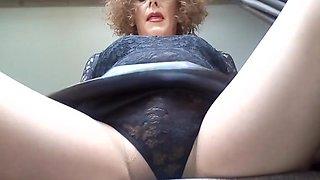 Rub my pantyhose