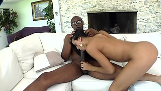 Black dude is taking care of the ebony chicks shaved landing strip