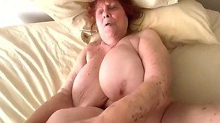 Grandson Makes His Dirty Granny Cum