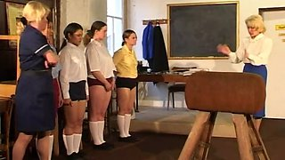 Gym lessons spanking
