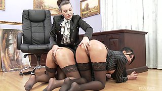 Kinky Tiffany Doll in an all-girls orgy with a lot of pissing