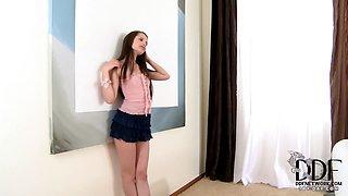 Sweet Liona Sniffs Her Panties