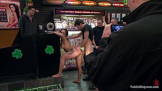 Latina Cutie With a Big Round Ass gets Dominated and Fucked in Public by Strangers