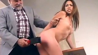 Sassy shoplifter, spanked, punished and humiliated