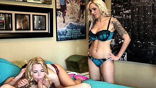 Pretty blonde virgin chick Alina West gets anally fucked by