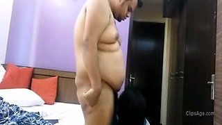 Long haired aunty has sex, blowjob