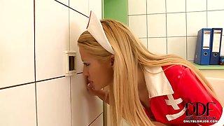 Nurse Sucks A Glory Hole Cock