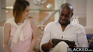 BLACKED First Interracial For Petite Teen Kristen Scott