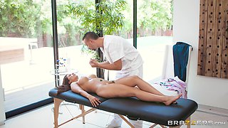 Reena Sky covered in semen after shagging a handsome man