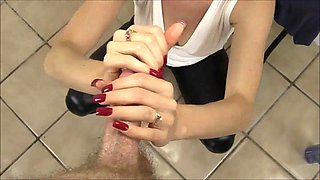 Lelu Love Red Fingernails Sulty Teasing Handjob