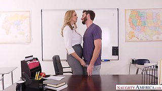 Sexiest mature teacher Julia Ann is fucked by cocky student