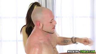 Sex masseuse swallows cum