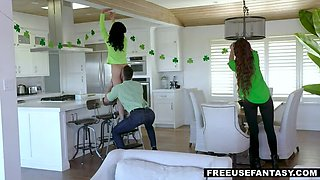 MFM Threesome for Saint Paddy  s Day! Stepsiblings XXX