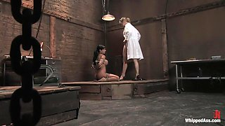 Crazy bdsm, lesbian sex movie with best pornstars Maitresse Madeline Marlowe and Mason Moore from Whippedass