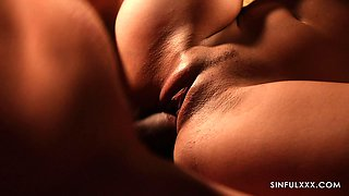 Beautiful erotic movie featuring young couple in love