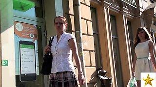 Voyeur follows a gorgeous Russian teen in fishnet stockings