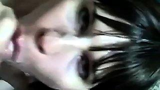 Crossdresser gets a facial