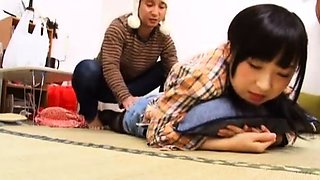 Seductive Japanese babes put their blowjob skills on display