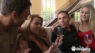 Cindy Hope and Natalie Norton banging hard in living room
