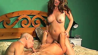 Two cocks and a pussy get to know each other more intimately in a bisexual threesome