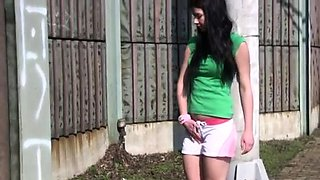 Teen cums all over big dick and creampie solo