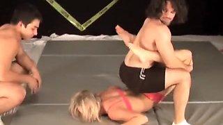 2 vs 2 mixed wrestling