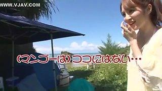 Best Japanese whore Miku Ohashi in Incredible Voyeur, Handjobs JAV movie