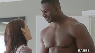 Gorgeous bitch Anna De Ville goes wild with her new BBC lover