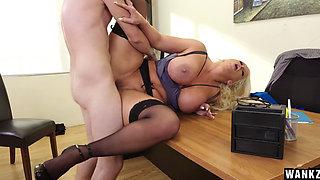 Blond MILF Alura Jenson fucked by her employee