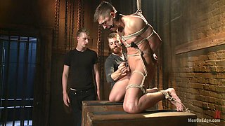 Guy with a BDSM fetish loves to be tied with a rope and fucked