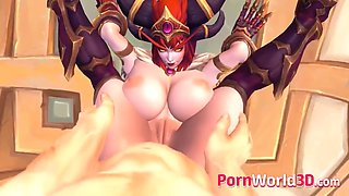 Characters gets a big massive dick in their anal