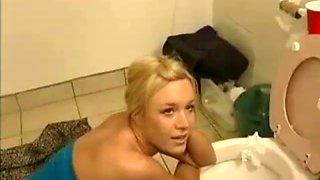 Cute drunk blonde fucked for cash