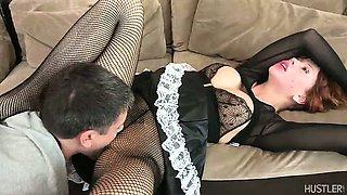 Brooklyn Lee fucked in sexy maid costume