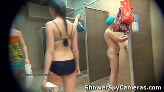 This is what an exciting shower spy video looks like
