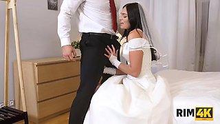 RIM4K. The wedding wont start until the bride gives a rimjob