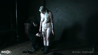 Long haired submissive blonde Hadley Haze pussy abused in bondage