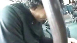 schoolgirl seduced leg fucked by geek on bus