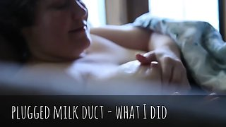 Plugged milk ducts + recipe to make salted bourbon breast milk caramel ice cream