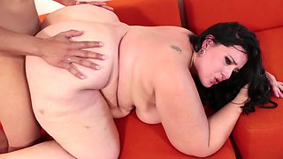 Sexy fat chick in lovely pink high heels fucked by BBC