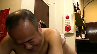 Bodacious Oriental housewife knows her way around a cock